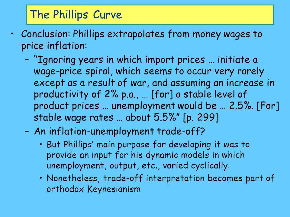 The Phillips Curve: Breakdown…? Vietnam war OPEC I OPEC II