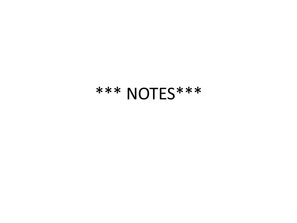 *** NOTES***