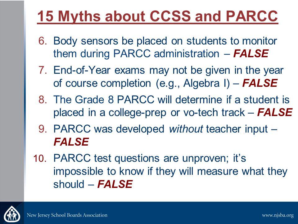 15 Myths about CCSS and PARCC 11.