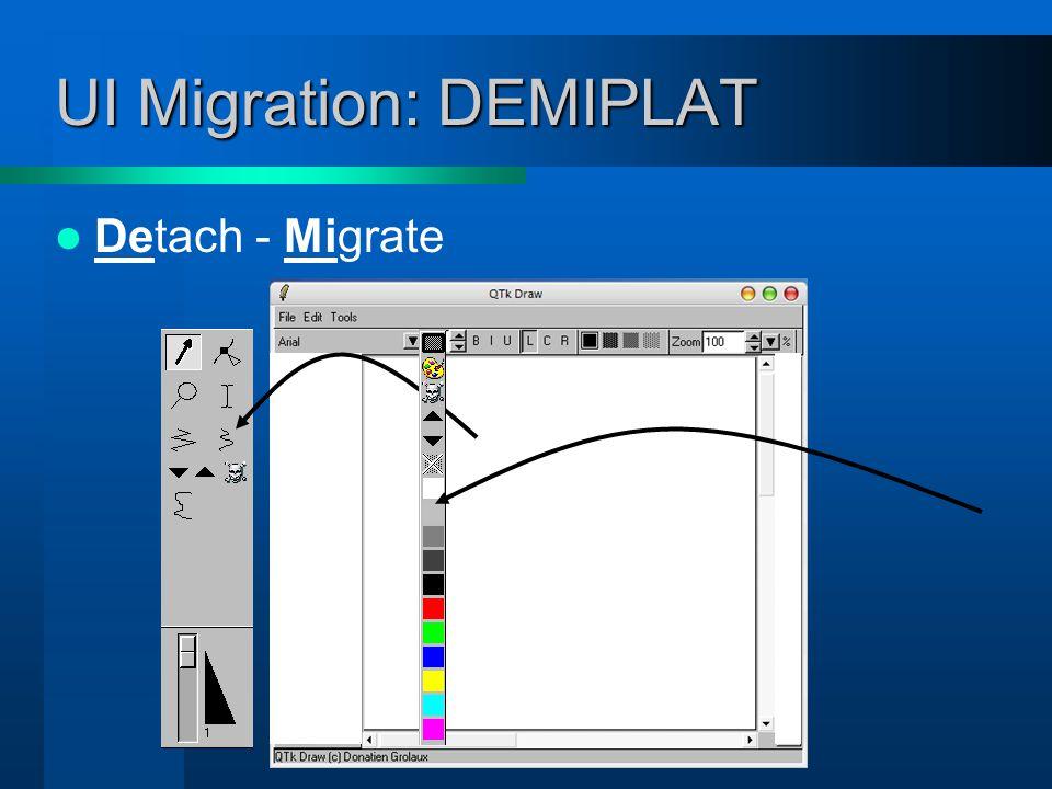 UI Migration: DEMIPLAT Detach - Migrate - Plastify
