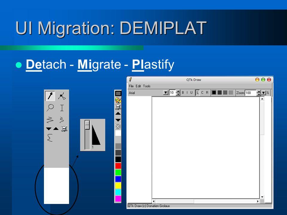 UI Migration: DEMIPLAT Detach - Migrate - Plastify - Attach