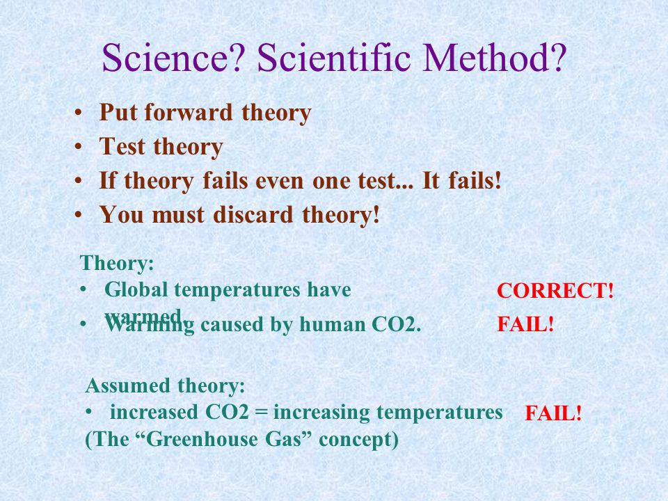 Science. Scientific Method. Put forward theory Test theory If theory fails even one test...