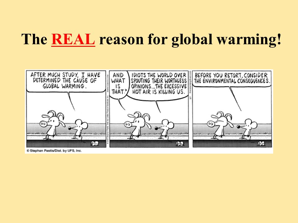The REAL reason for global warming!