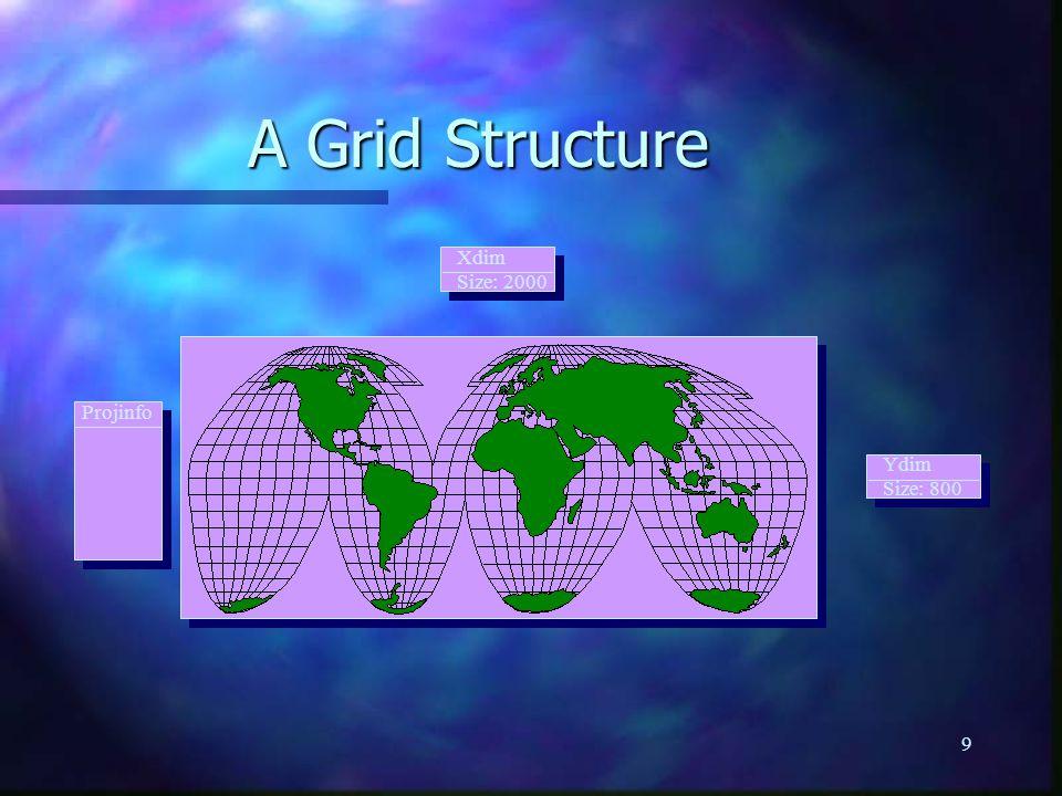9 Xdim Size: 2000 Ydim Size: 800 Projinfo A Grid Structure