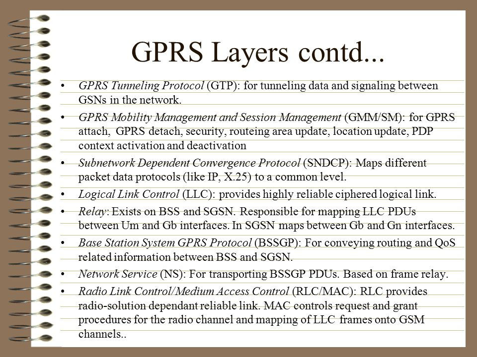 GPRS Operation GPRS Attach PDP Context Activation Data transfer PDP Context Deactivation/GPRS Detach