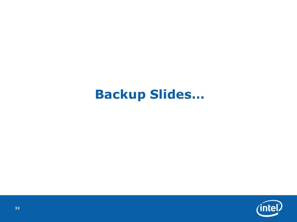 32 Backup Slides…