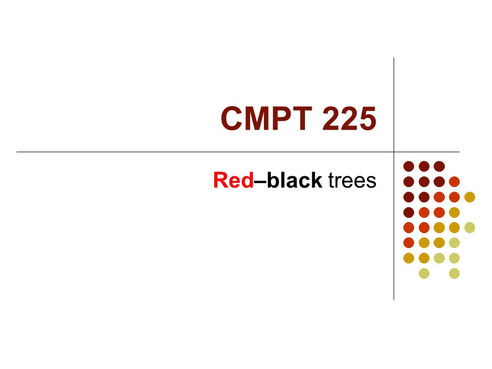 CMPT 225 Red–black trees