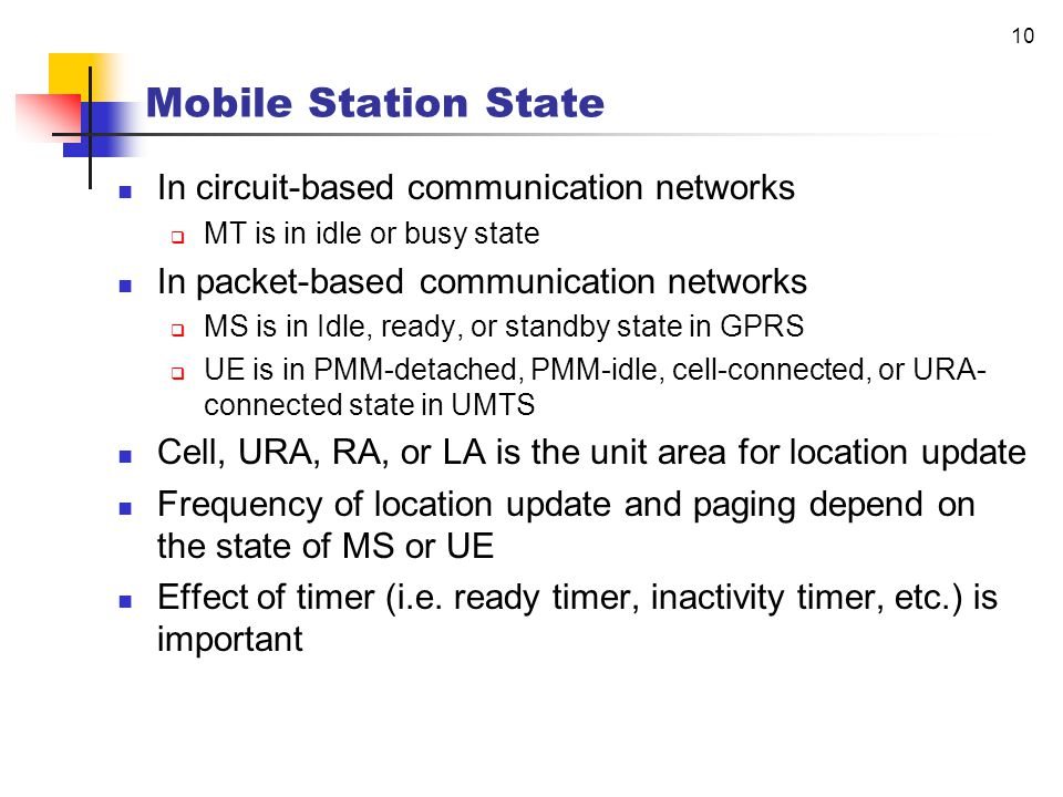 Mobility Management in Packet- based Communication Networks