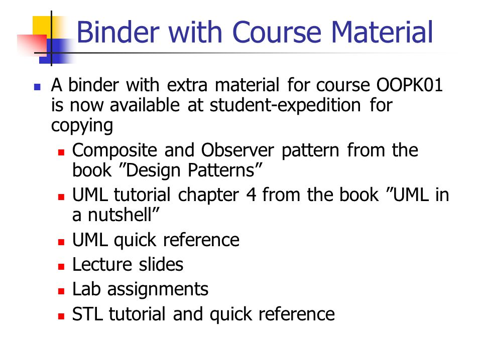 Lecture 12 observer pattern uml class diagrams repetition use case 2 binder ccuart Image collections