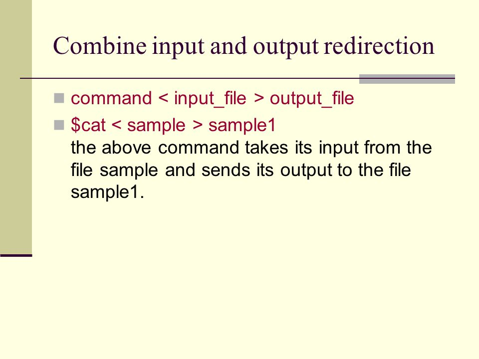 I/O redirection with file descriptors As we know the UNIX kernel associate an integer number with every opened file.