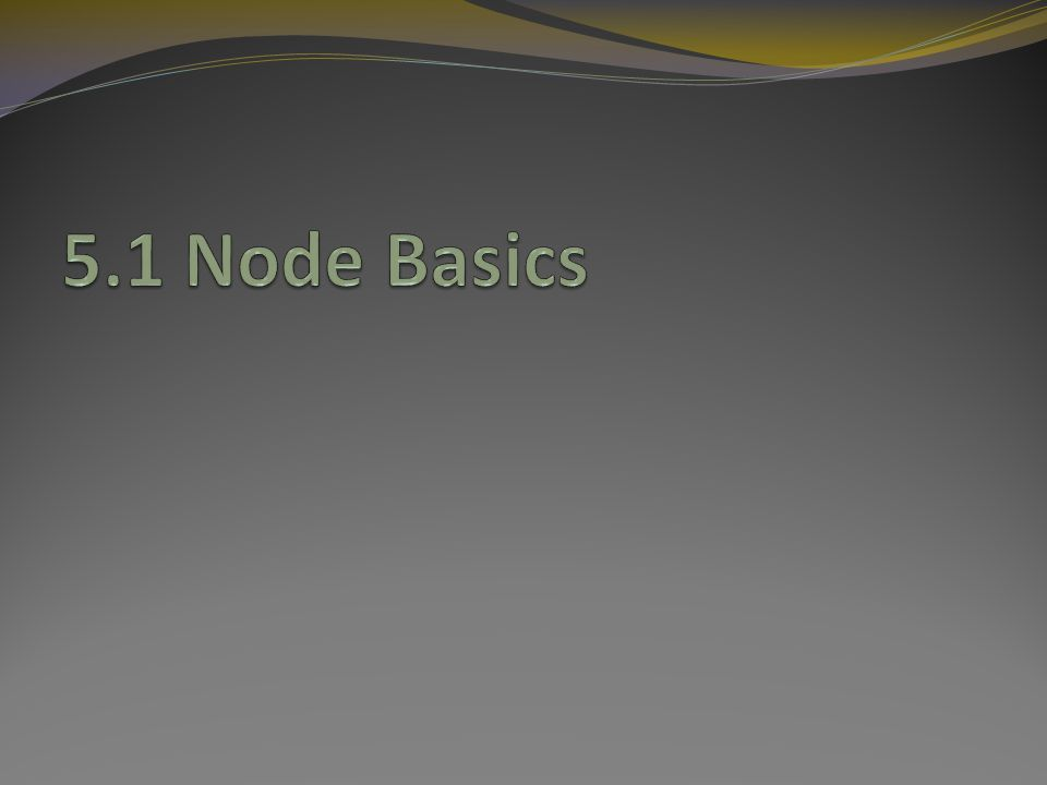 Node A node is an OTcl class, but most of its components are TclObjects.