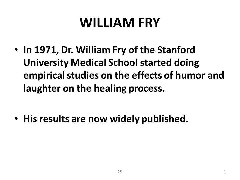 251 WILLIAM FRY In 1971, Dr.