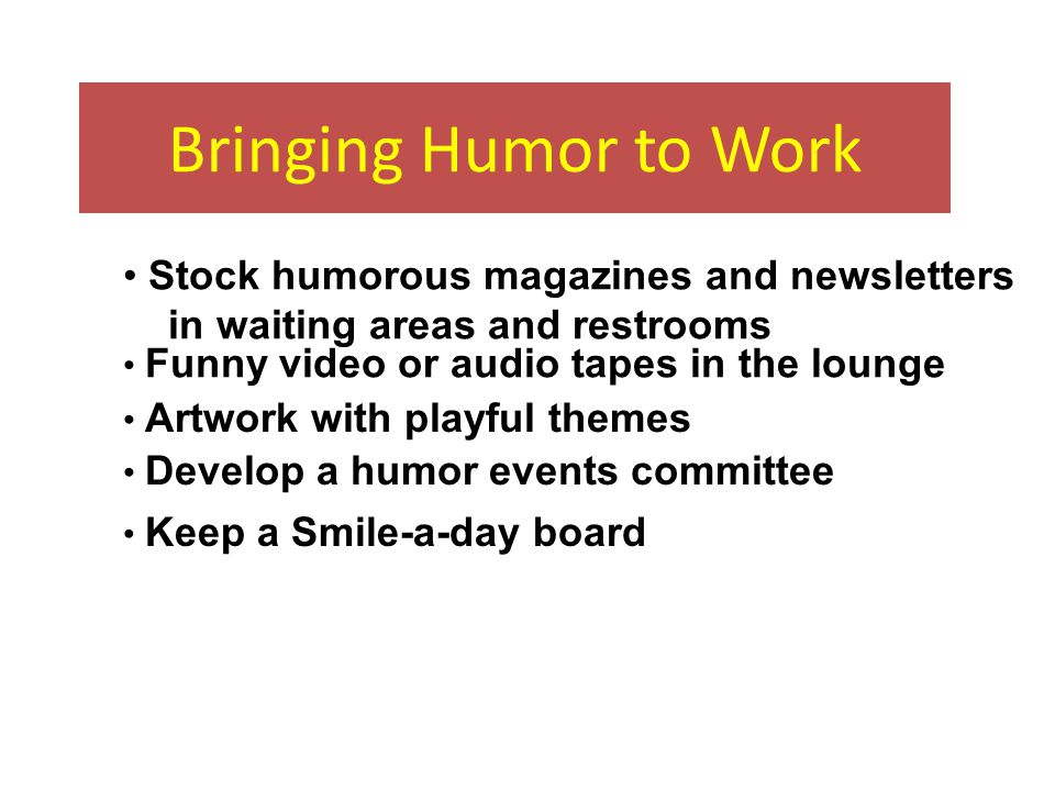 Humor and Laughter Humor and laughter strengthen our immune systems and help us recover from illness, as well as bring joy into our lives Laughter activates the chemistry of the will to live and increases our capacity to fight disease.