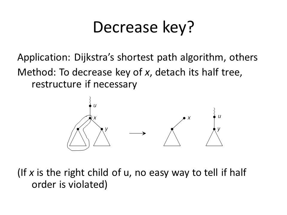 Decrease key.