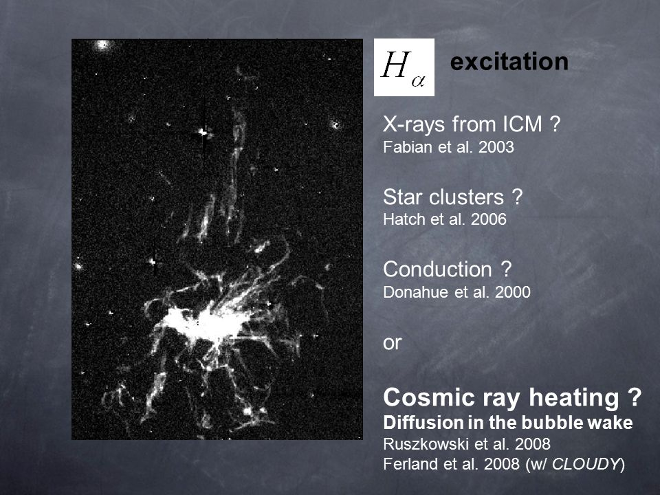 excitation X-rays from ICM . Fabian et al. 2003 Star clusters .