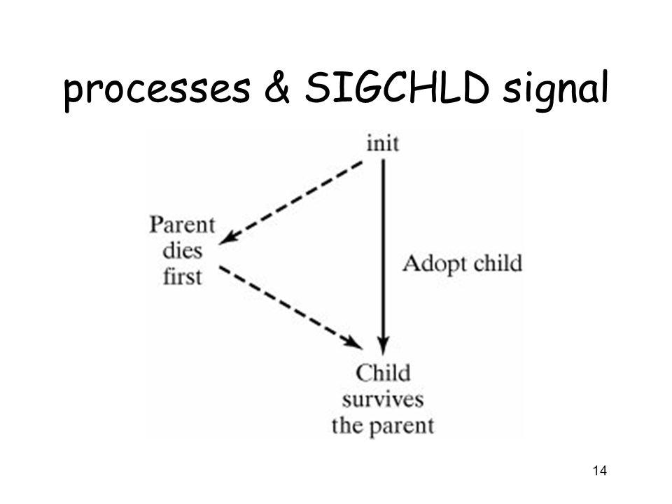 processes & SIGCHLD signal 14