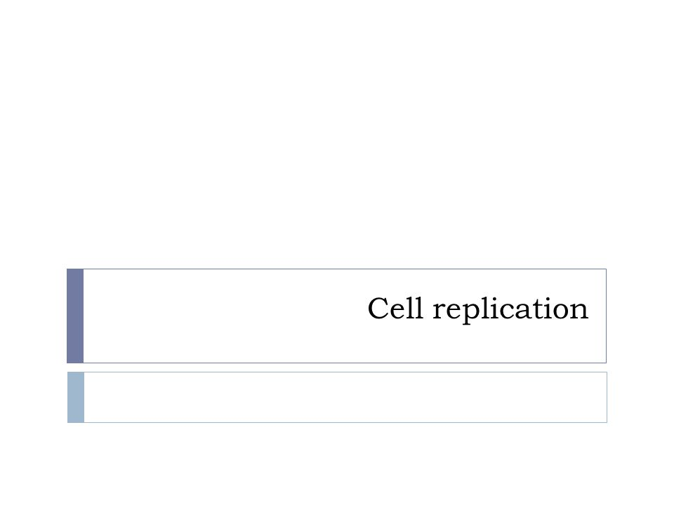 Cell replication