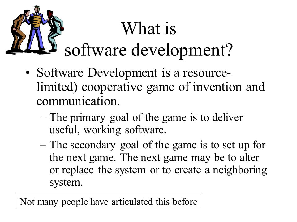 What is software development.