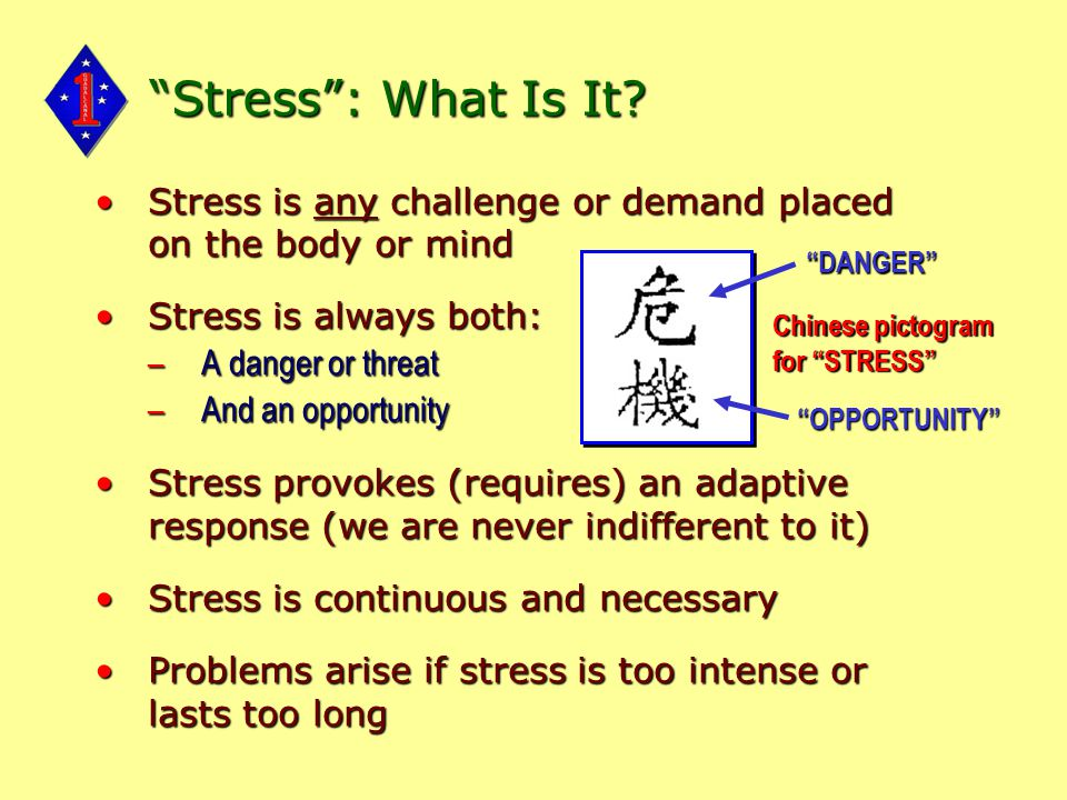 Stress : What Is It.