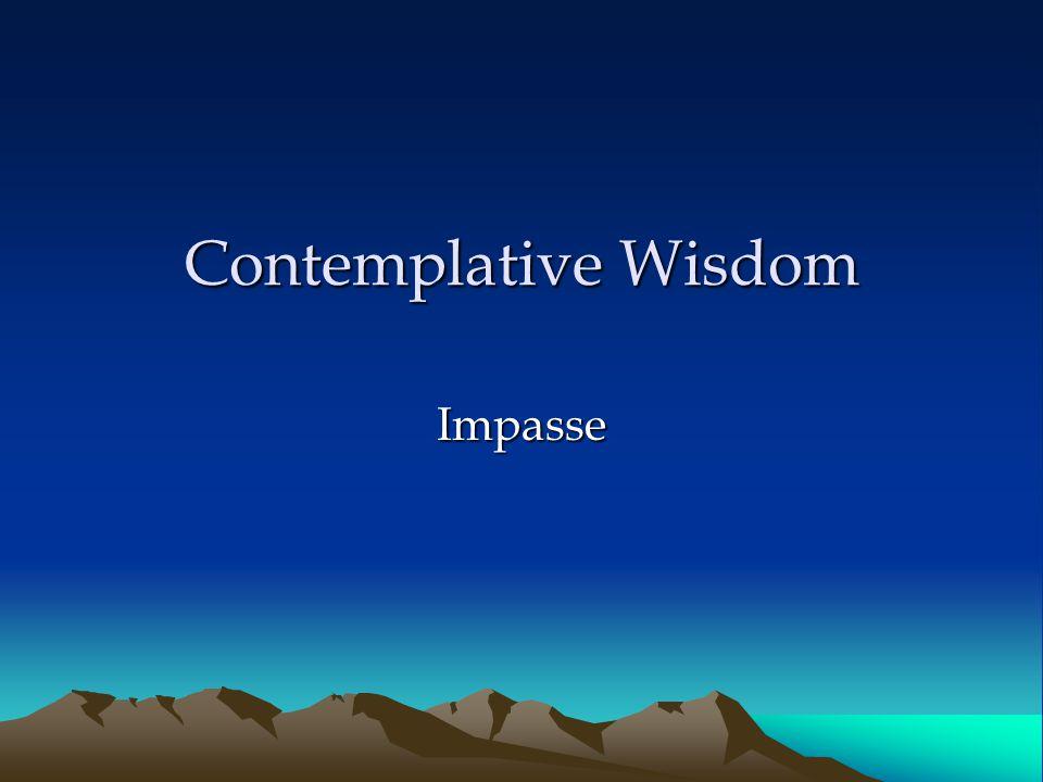 Contemplative Wisdom Impasse