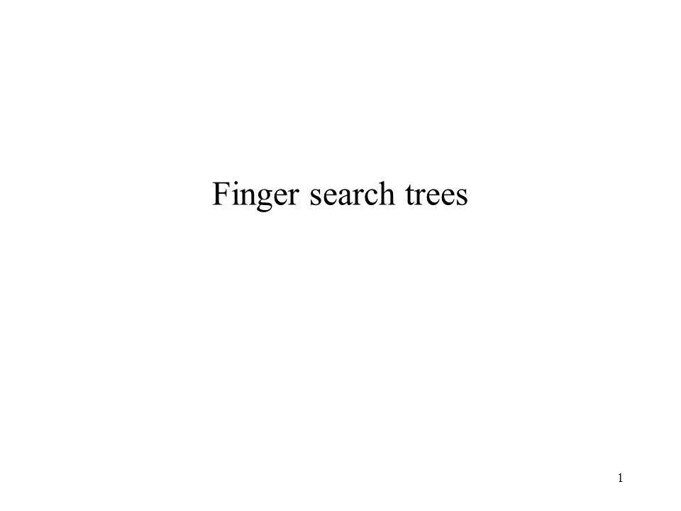 1 Finger search trees