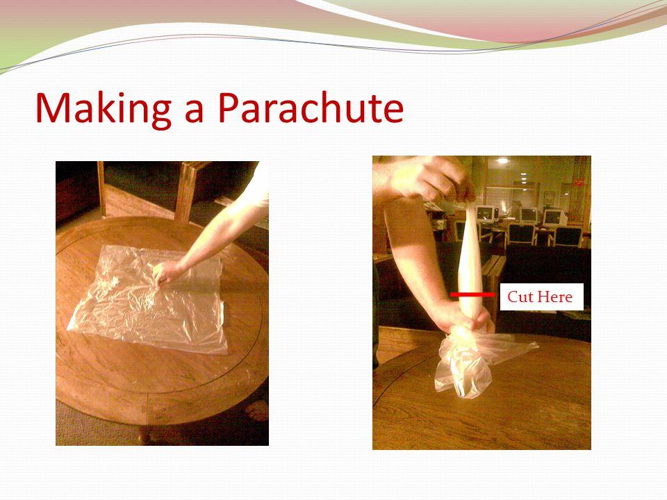 Making a Parachute Cut Here
