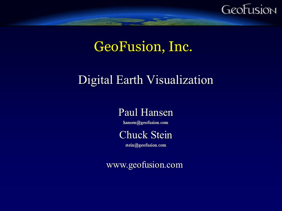 GeoFusion, Inc.