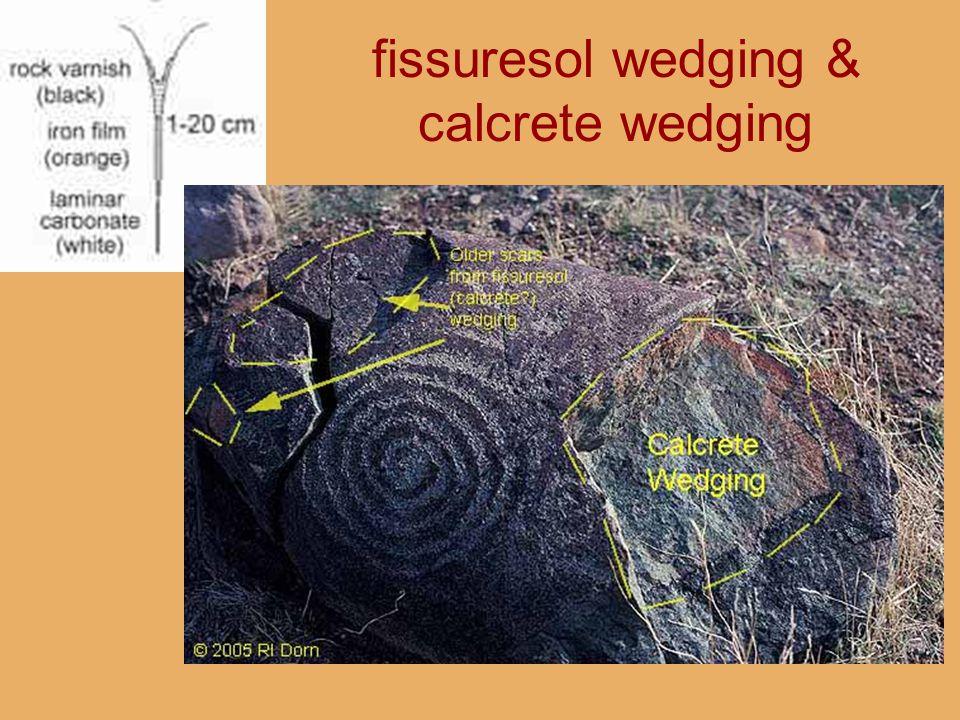 fissuresol wedging & calcrete wedging