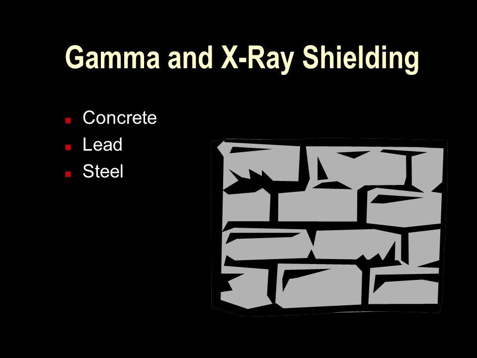 Gamma and X-Ray Shielding n Concrete n Lead n Steel