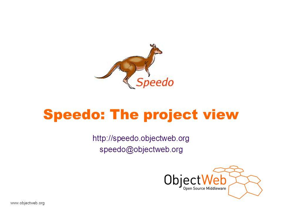 www.objectweb.org Speedo presentation - 4 Speedo, What is it .