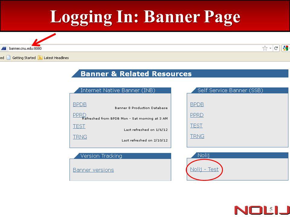 Logging in On the Nolij Web 6 login screen, enter your CNU log in credentials – Username: CNU ID Number – Password: CNU Connect Password Click Log in 6