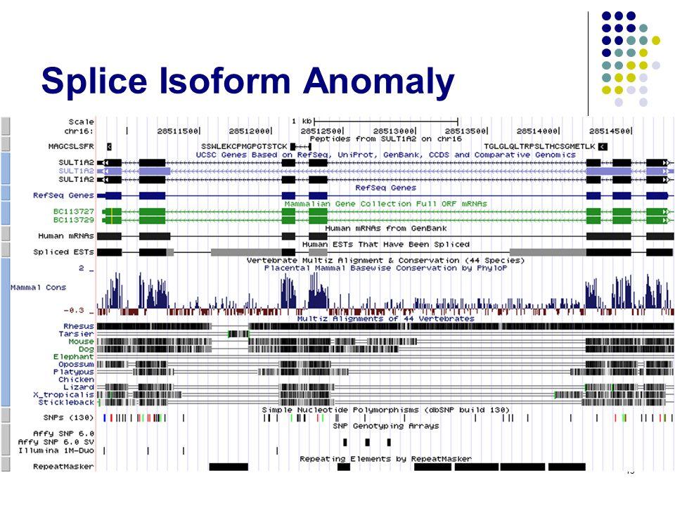 Splice Isoform Anomaly 15