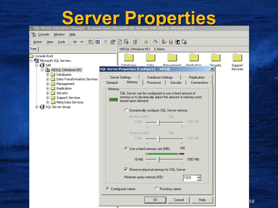 10 Server Properties