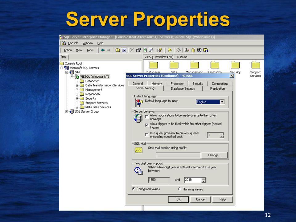 12 Server Properties