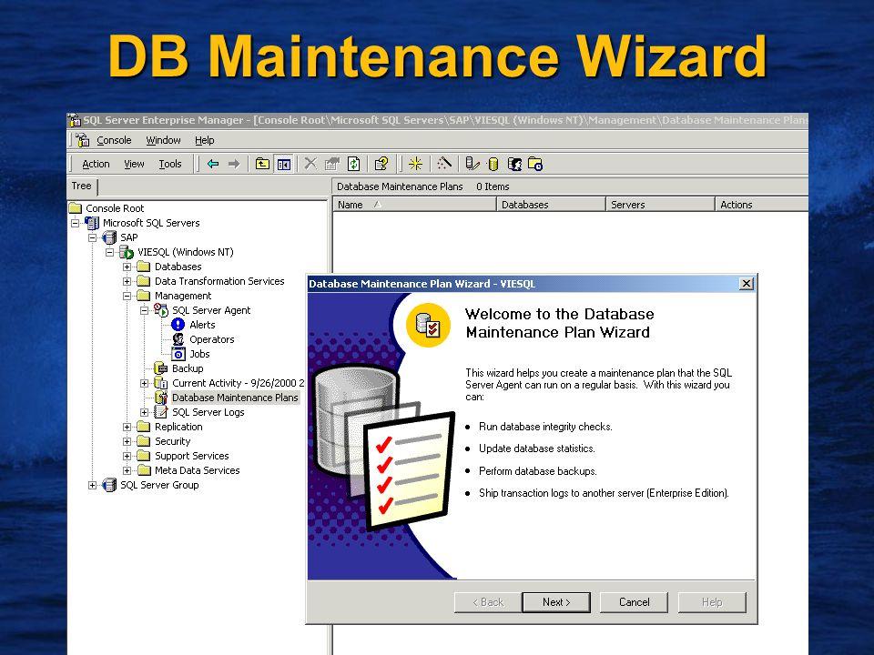 13 DB Maintenance Wizard