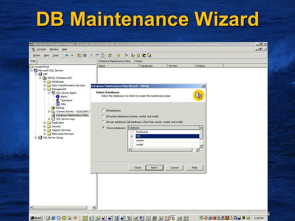 14 DB Maintenance Wizard