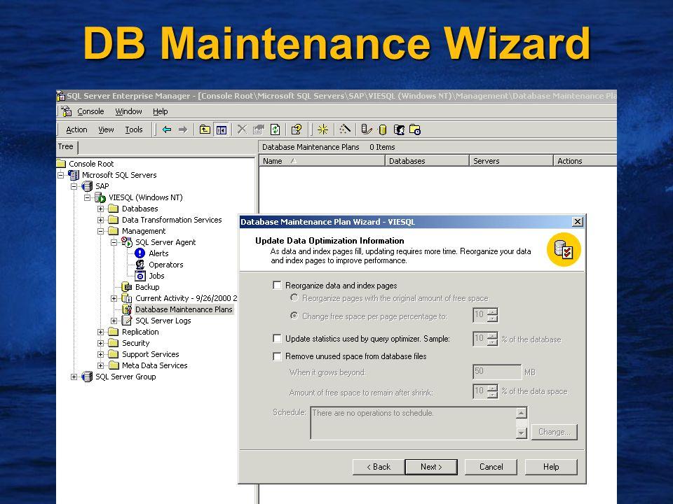 15 DB Maintenance Wizard