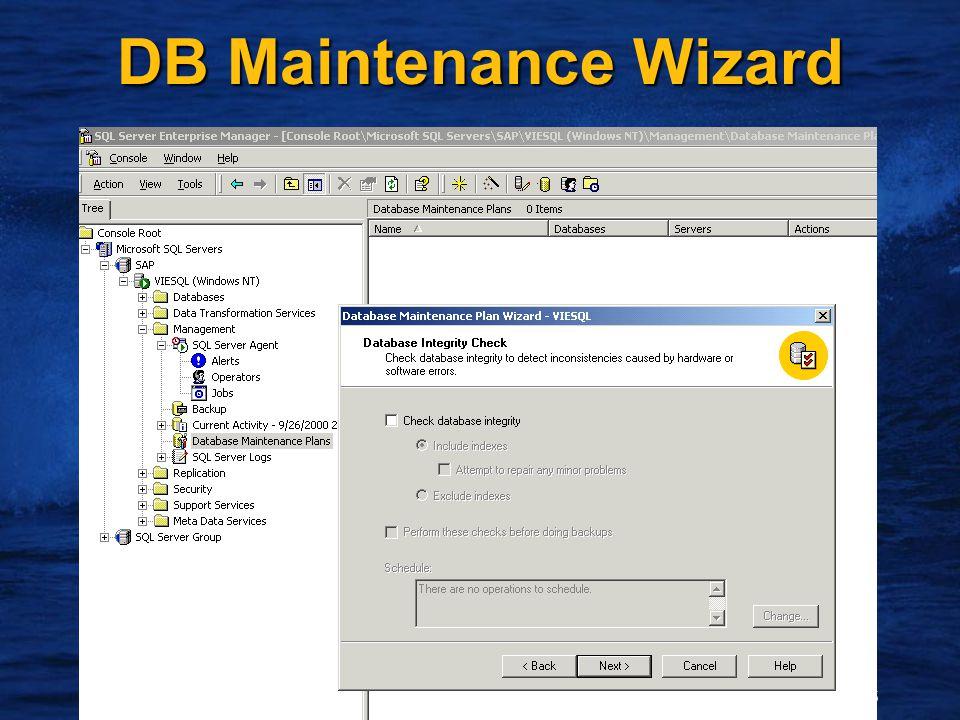 16 DB Maintenance Wizard