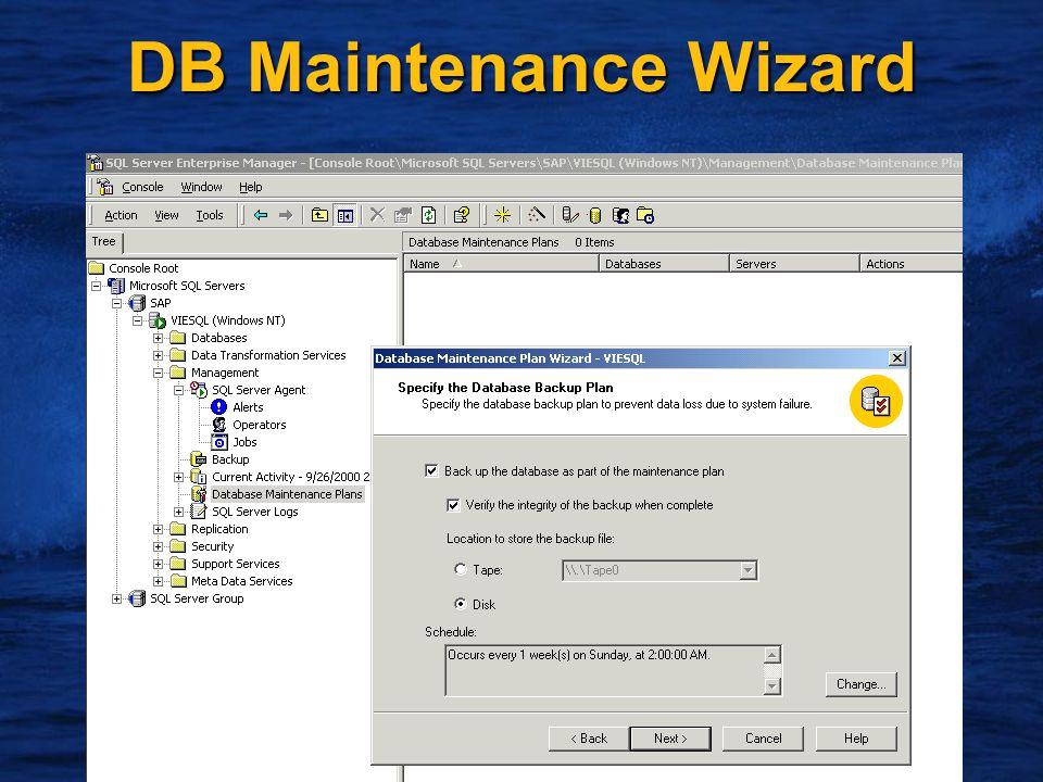 17 DB Maintenance Wizard
