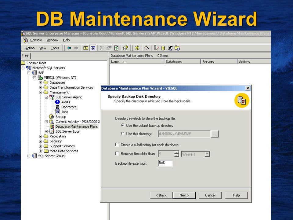 18 DB Maintenance Wizard
