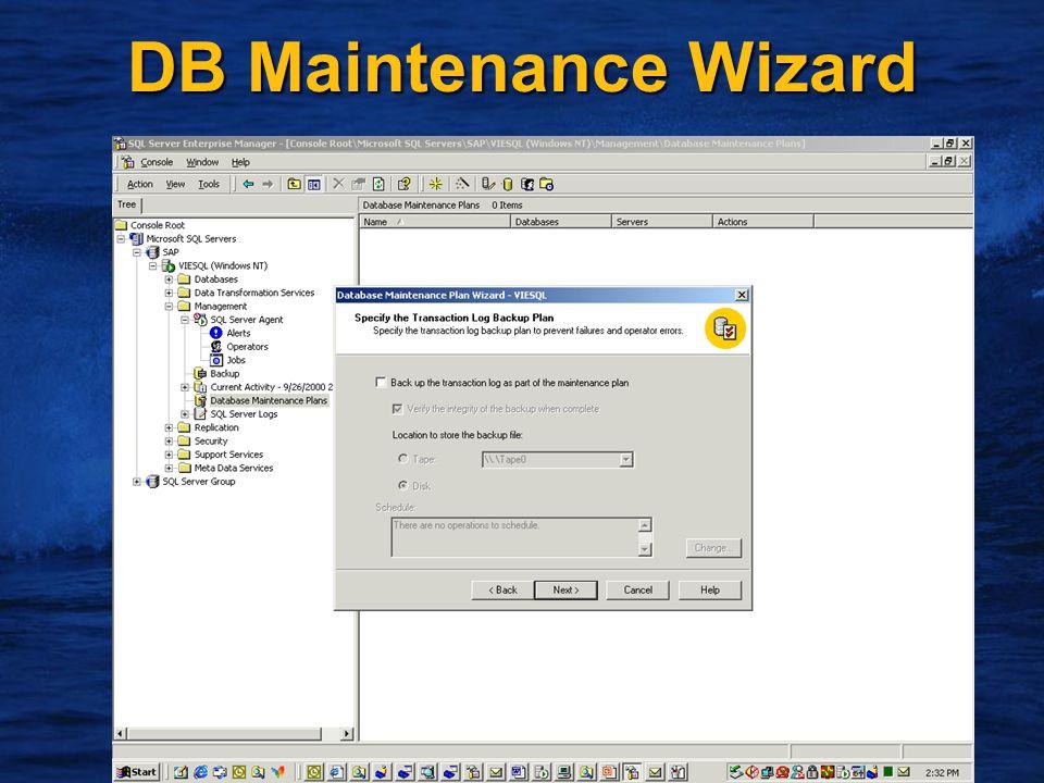 19 DB Maintenance Wizard