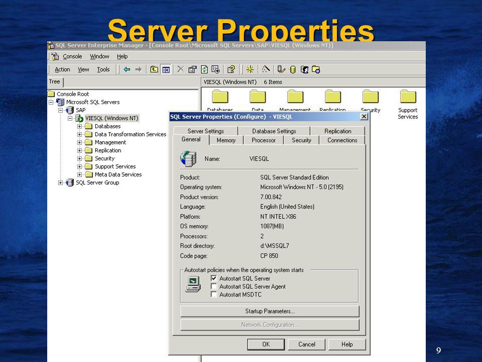 9 Server Properties