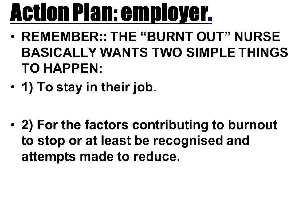 Action Plan: employer.