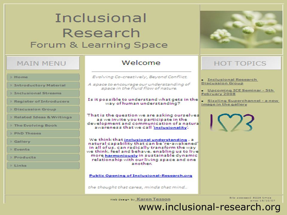 Inclusional Research Forum www.inclusional-research.org