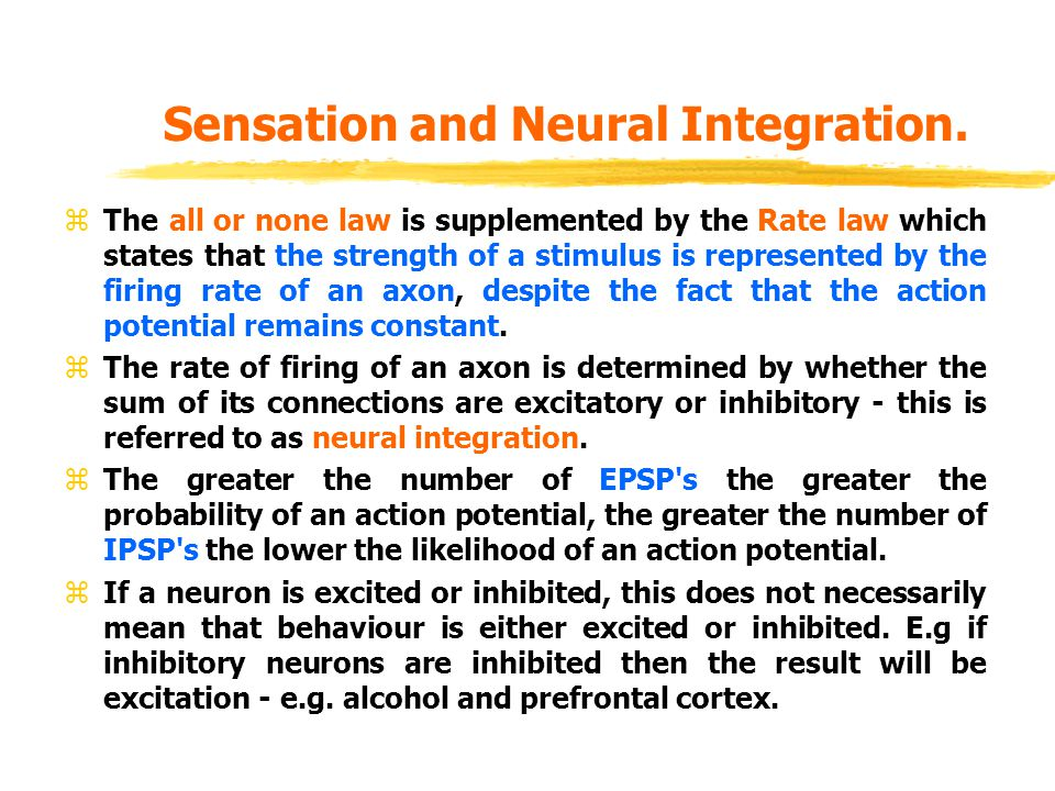 Sensation and Neural Integration.