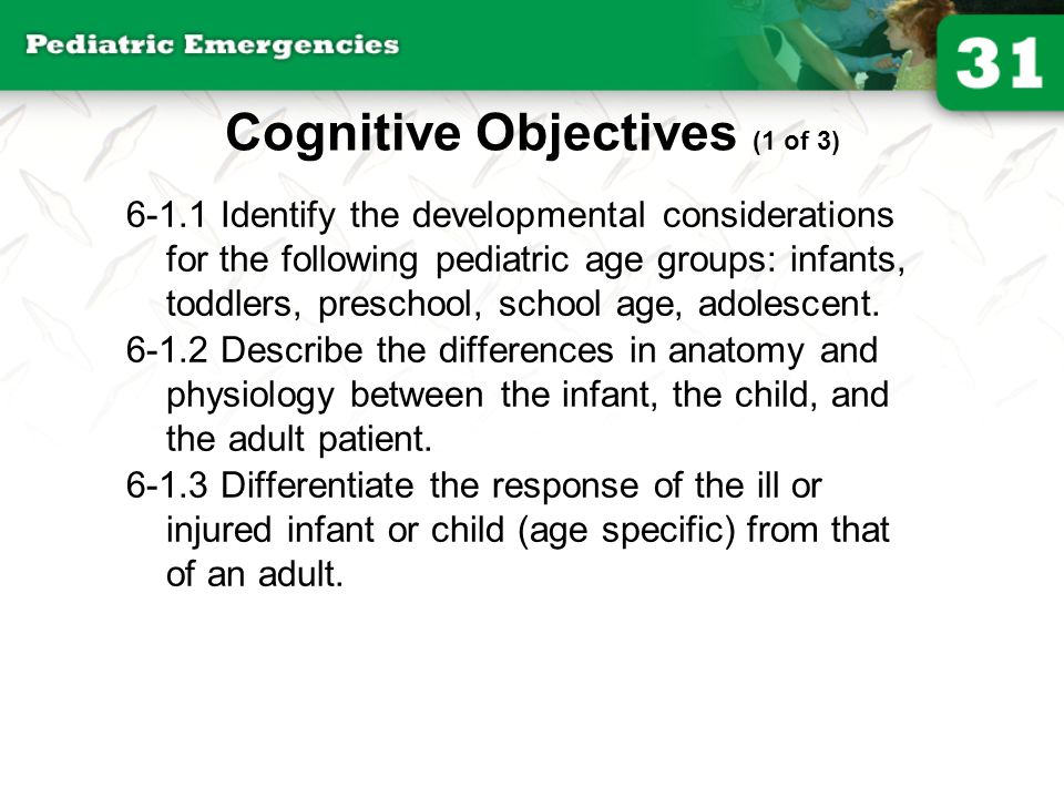 6-1.8 Identify the signs and symptoms of shock (hypoperfusion) in an infant and child patient.