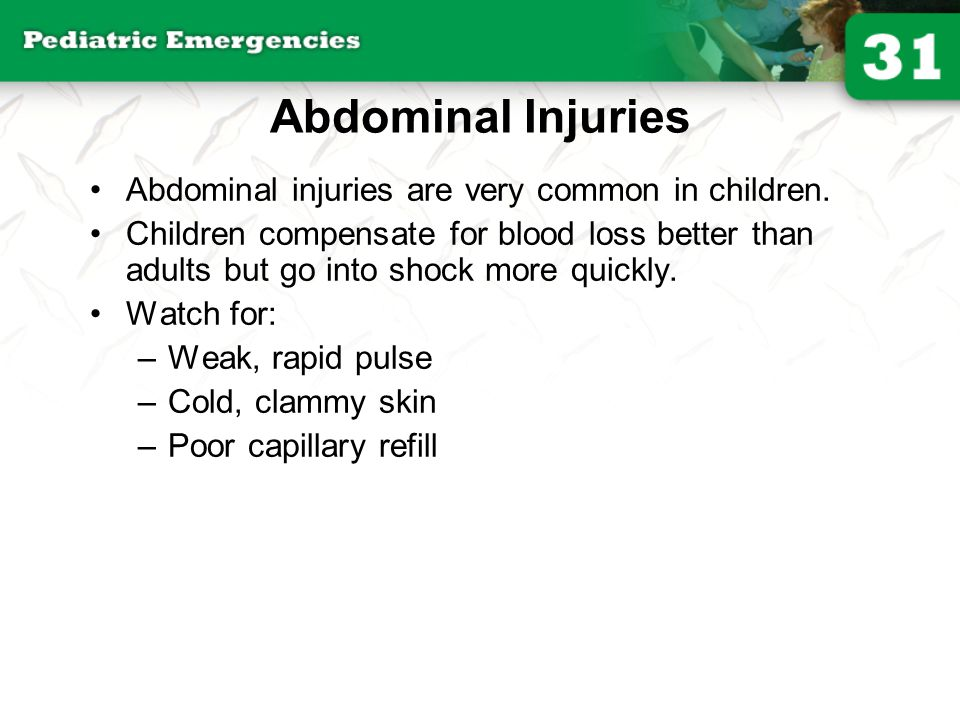 Injuries to the Extremities Children's bones bend more easily than adults' bones.