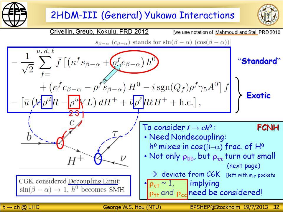 t → ch @ LHC George W.S.