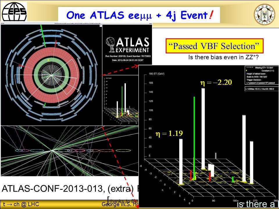t → ch @ LHC George W.S. Hou (NTU) EPSHEP@Stockholm 19/7/2013 49 .