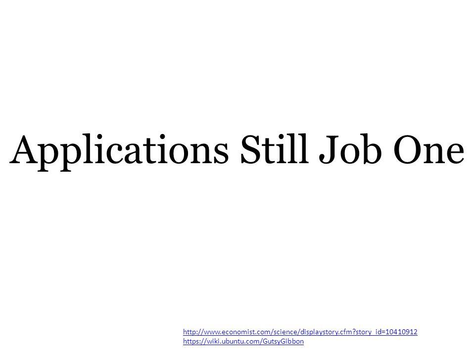 Applications Still Job One http://www.economist.com/science/displaystory.cfm story_id=10410912 https://wiki.ubuntu.com/GutsyGibbon
